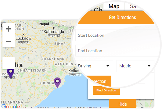 set directions on google map wordpress plugin