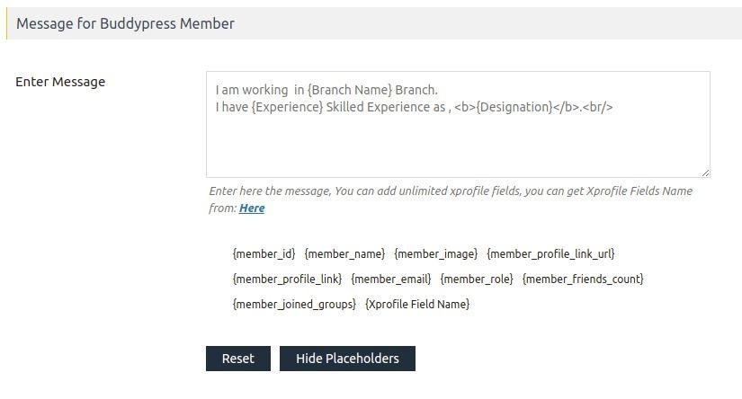 Display BuddyPress user's info in the marker infowindow