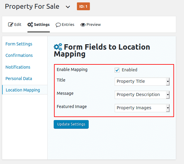 Displays Gravity Form Submissions WP Maps pro
